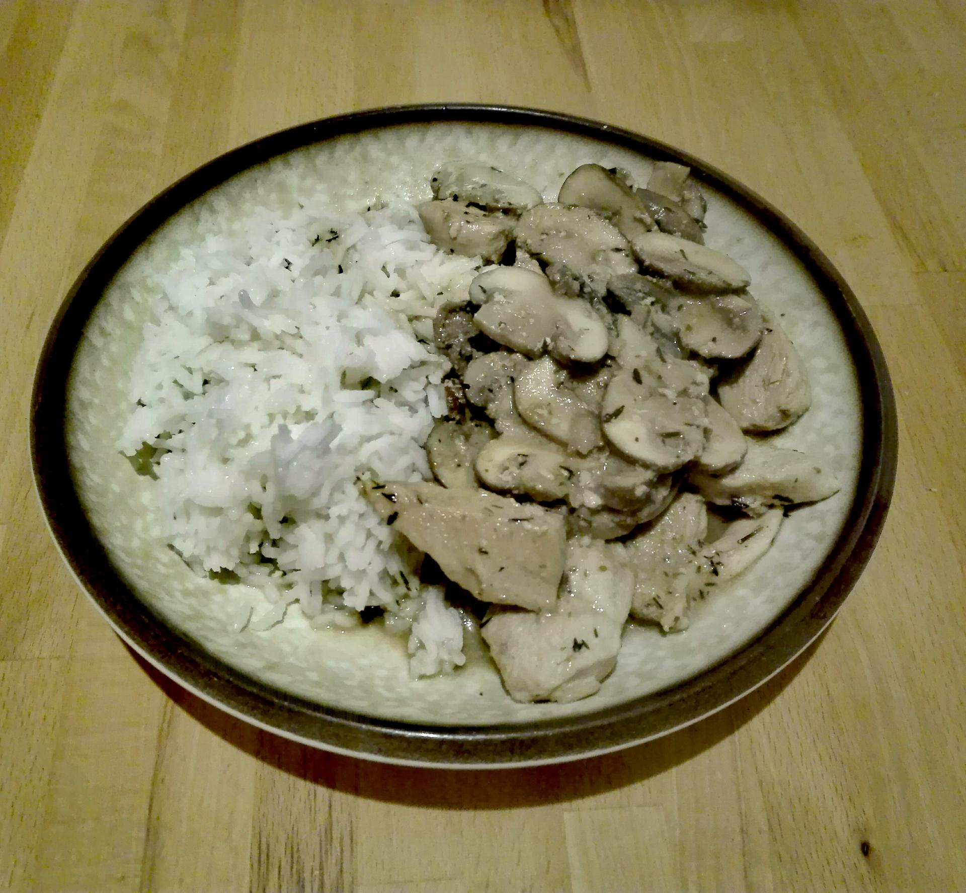 Poulet au champignons